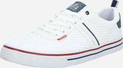 MUSTANG Športni čevlji z vezalkami | mornarska / temno rdeča / bela barva, Prikaz izdelka