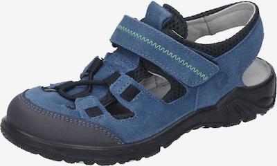 RICOSTA Sandalen in nachtblau / himmelblau / neongrün: Frontalansicht