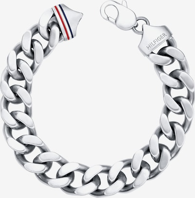 TOMMY HILFIGER Armband 'Mens's Casual' in blau / rot / silber, Produktansicht