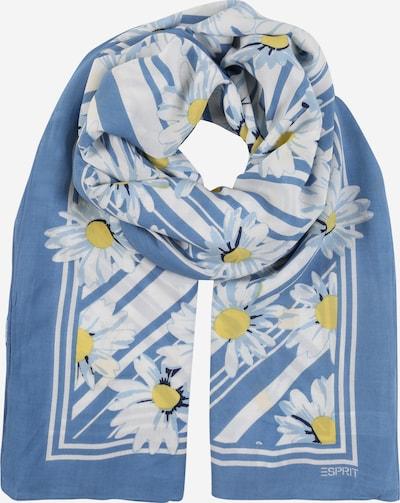 ESPRIT Schal 'CVE_Flower' in hellblau / gelb / weiß, Produktansicht