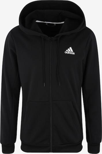 Bluză cu fermoar sport ADIDAS PERFORMANCE pe negru, Vizualizare produs