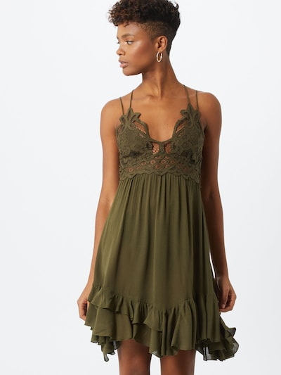 Free People Kleid 'Adella' in khaki, Modelansicht