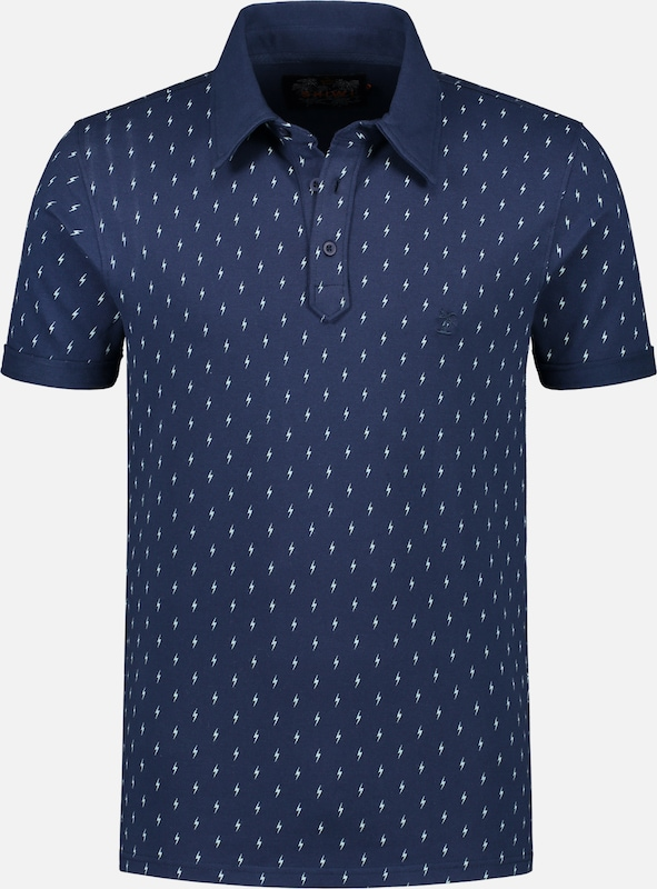 Shiwi Shirt 'Pique bolt' in de kleur Navy, Productweergave