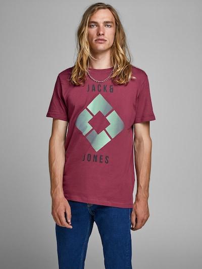 JACK & JONES T-Shirt en turquoise / violet rouge: Vue de face