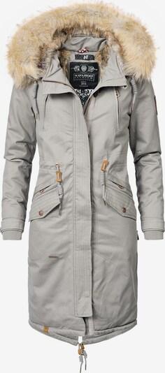 NAVAHOO Mantel 'Kin-Joo' in hellbraun / grau, Produktansicht