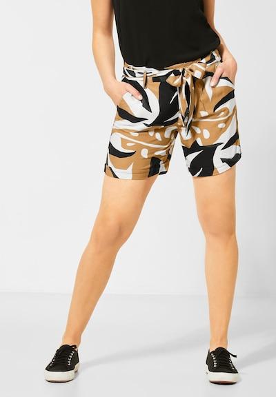 STREET ONE Shorts in braun / dunkelgrün / schwarz / weiß, Modelansicht