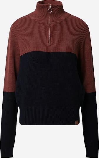 Iriedaily Pullover 'Tone' in nachtblau / pastellrot, Produktansicht