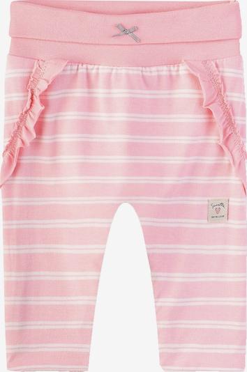Sanetta Kidswear Softbundhose in rosa / weiß, Produktansicht