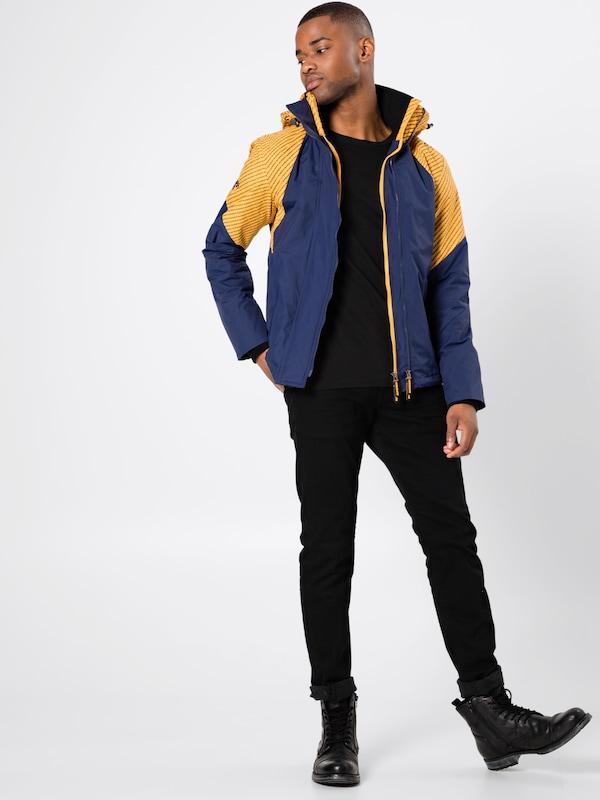 MarineJaune 'arctic saison En Wincheater' Hooded Superdry Veste Intron Bleu Mi 8m0Nwvn