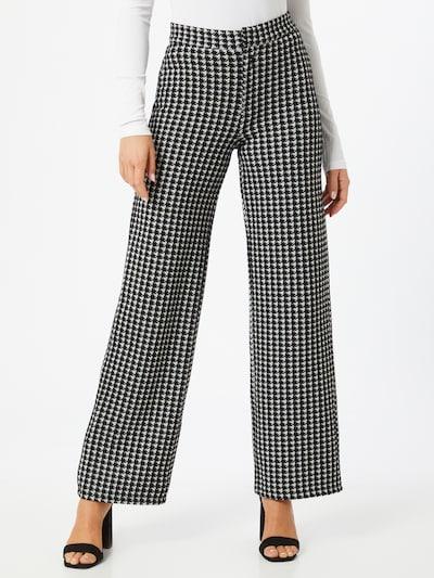 Pantaloni con piega frontale Noisy may di colore nero / bianco, Visualizzazione modelli