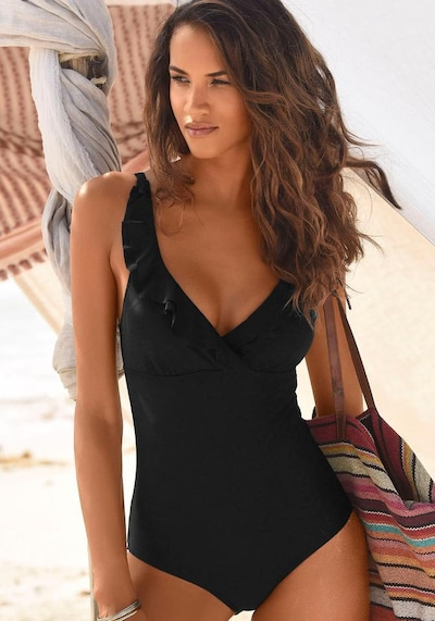 JETTE Badeanzug in schwarz, Modelansicht
