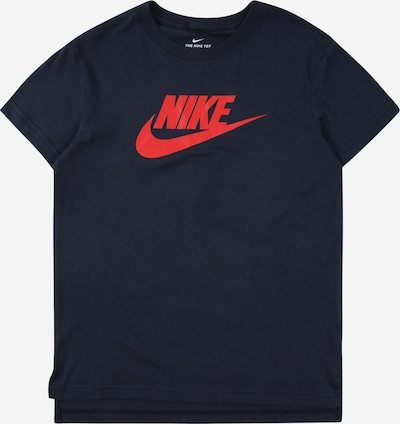 Nike Sportswear Shirt 'Futura' in dunkelblau / melone, Produktansicht
