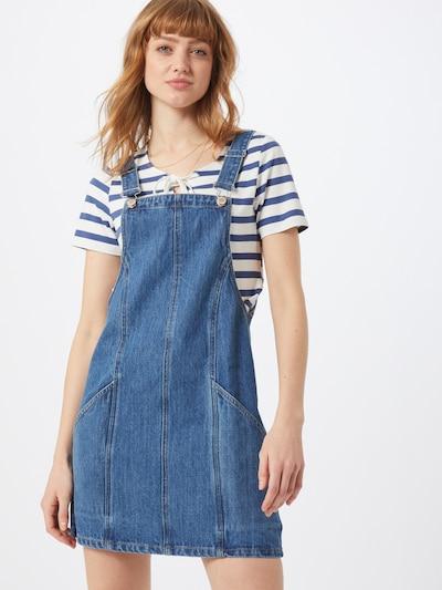 Miss Selfridge Jupe-salopette en bleu denim, Vue avec modèle