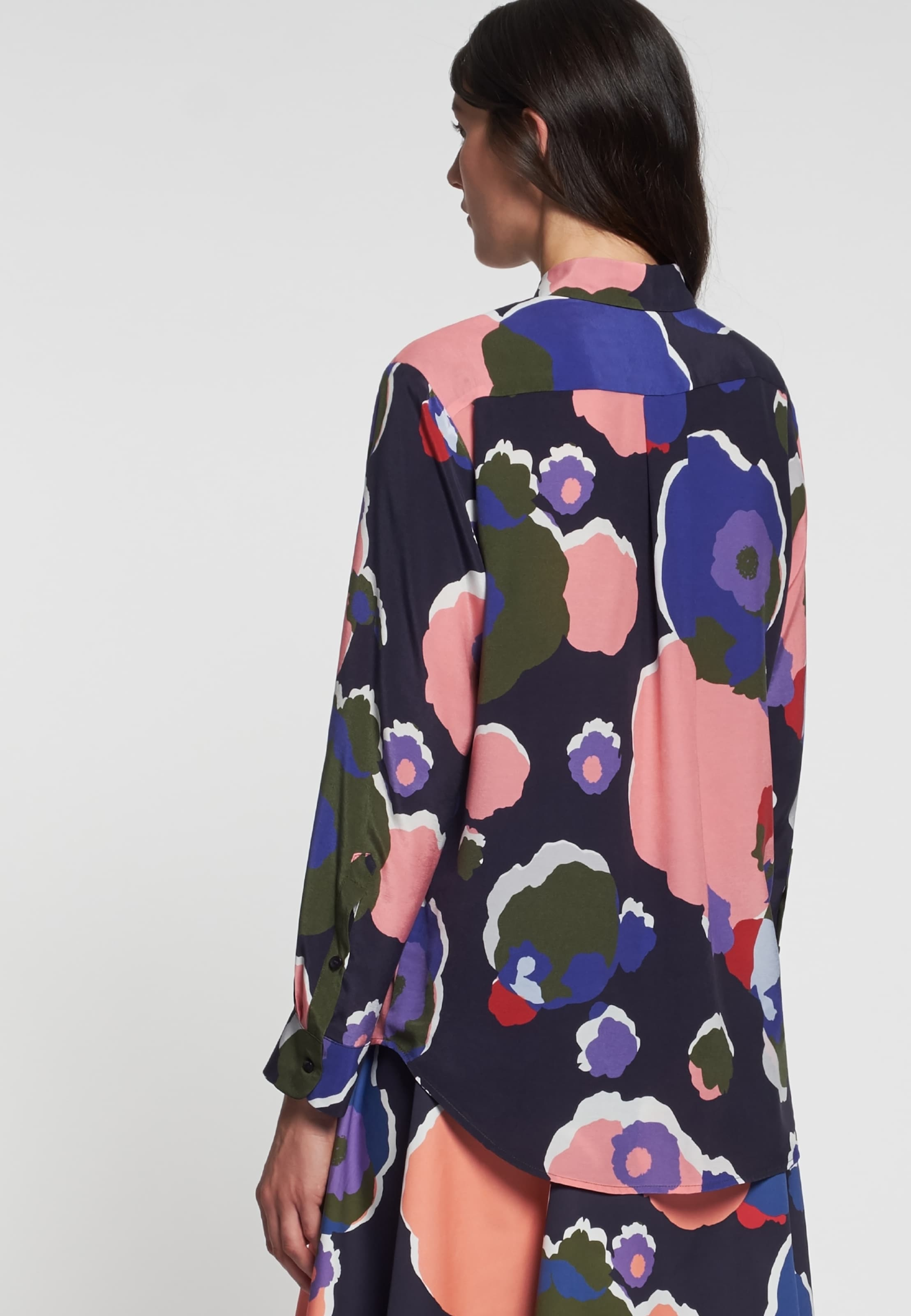 'schwarze Rose' Seidensticker BlauMischfarben Bluse In CxBoedWQr