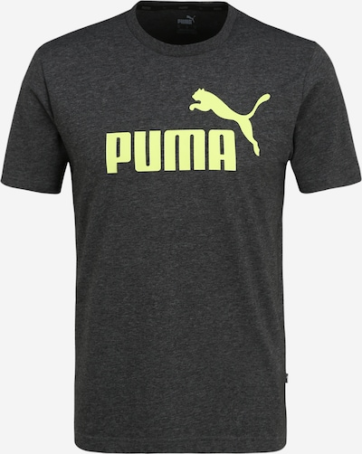PUMA Sportshirt 'Heather' in limone / anthrazit, Produktansicht