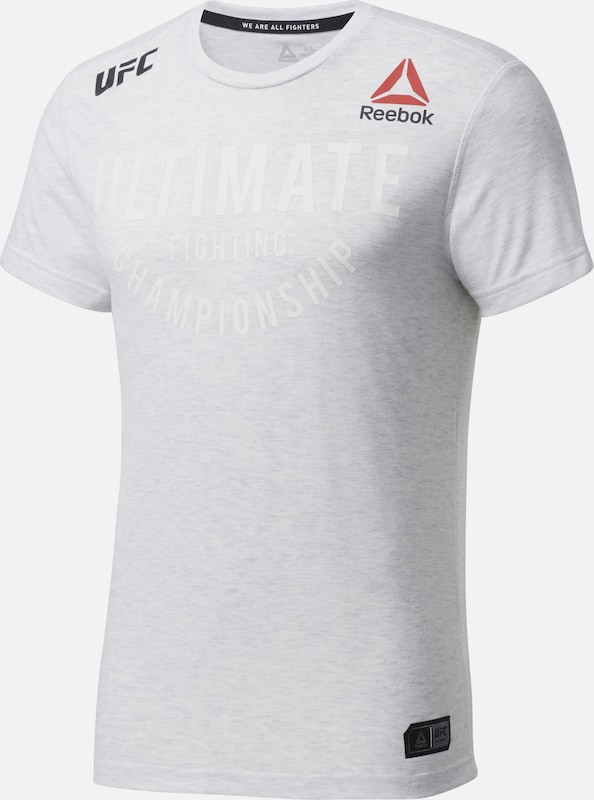 REEBOK Functioneel shirt 'UFC Fight Night Walkout' in de kleur Rood / Zwart / Wit, Productweergave