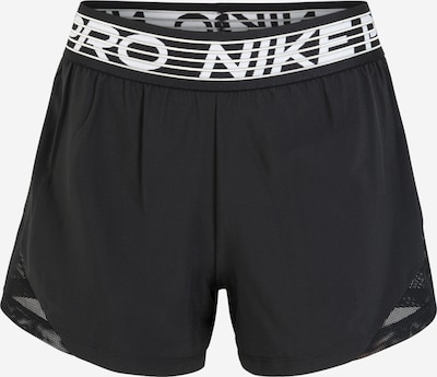 NIKE Sportbroek 'Pro Flex' in de kleur Zwart / Wit, Productweergave