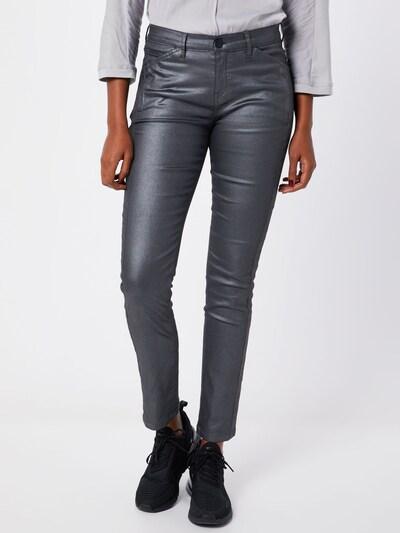 OPUS Jeans 'Emily' in dunkelgrau / schwarz, Modelansicht