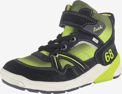 LURCHI Sneaker High 'Tex, Weite W' in nachtblau / neongelb, Produktansicht