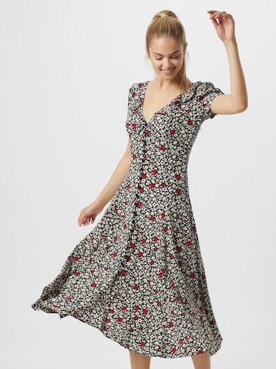 POLO RALPH LAUREN Šaty - červené / čierna / biela: Pohľad spredu