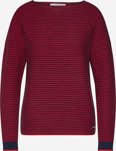 ESPRIT Pullover in navy / mischfarben / knallrot, Produktansicht