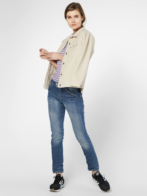 Please Loosefit Jeans Mit Crinkle-effekt