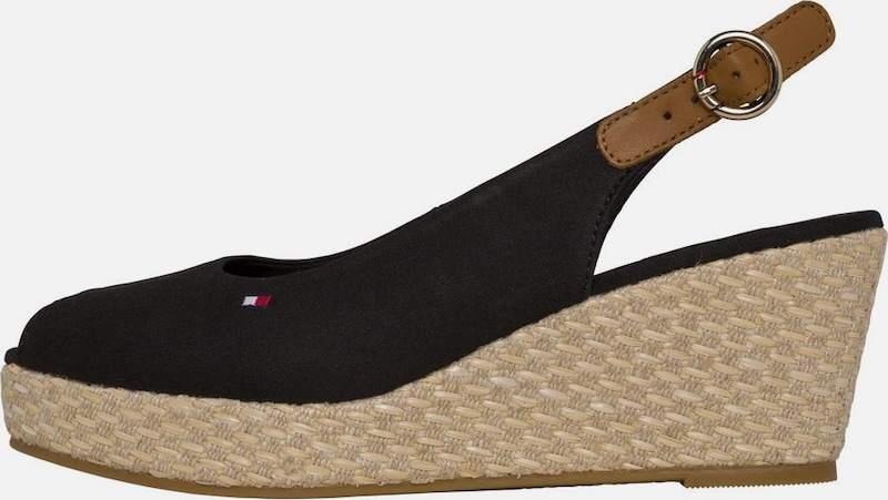 TOMMY HILFIGER Slipper, Black
