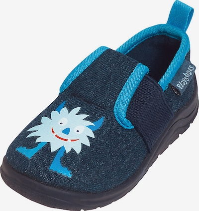 PLAYSHOES Hausschuhe 'Monster' in royalblau / ultramarinblau: Frontalansicht