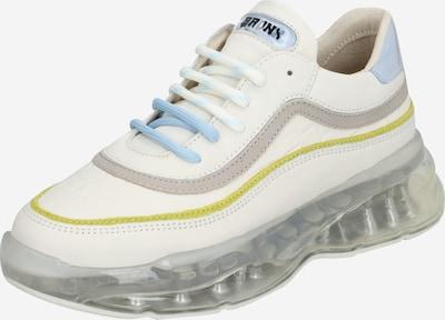 BRONX Sneakers laag 'BBUBBLYX' in de kleur Lichtblauw / Geel / Wit, Productweergave