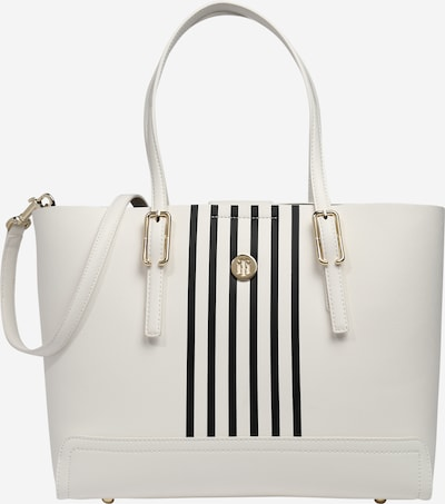 TOMMY HILFIGER Shopper 'Honey' in de kleur Zwart / Wit, Productweergave