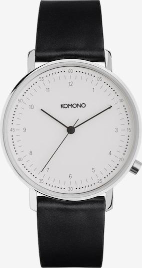 Komono Armbanduhr 'Lewis' in schwarz / weiß: Frontalansicht
