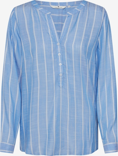 TOM TAILOR Blouse in Smoky blue / Wit MPjtdMHb