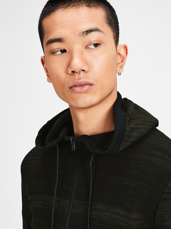 JACK & JONES Struktur Strick-Cardigan