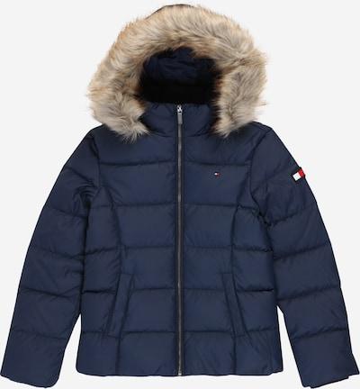 TOMMY HILFIGER Jacke in hellbeige / navy / rot / weiß, Produktansicht