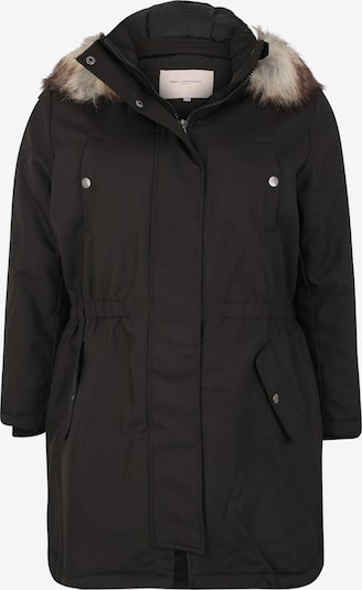 ONLY Carmakoma Wintermantel 'carIRENA PARKA COAT 19' in de kleur Zwart, Productweergave
