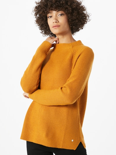 BRAX Pullover 'Lea' in dunkelgelb: Frontalansicht