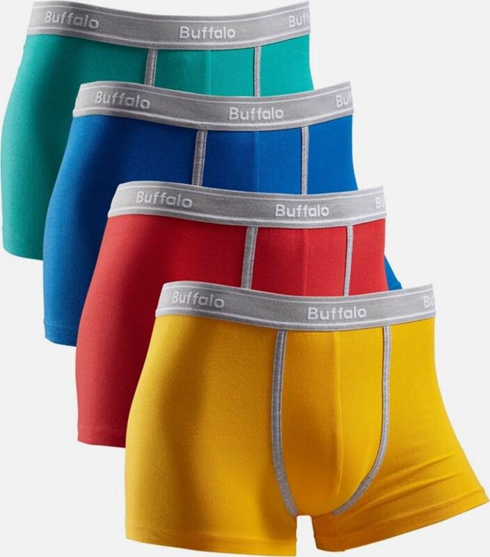 BUFFALO Boxer (4 Stück) mit kontrastfarbenem Bund und Pipings