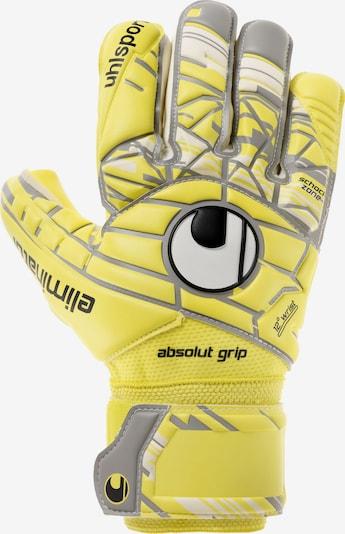 UHLSPORT Torwarthandschuhe in gelb / grau / schwarz / weiß, Produktansicht