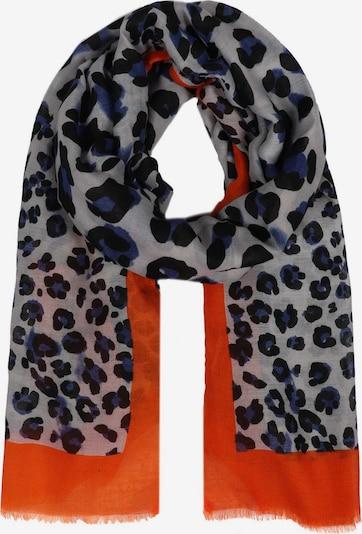 Zwillingsherz Schal ' Leopard Amanda' in orange / schwarz / weiß, Produktansicht