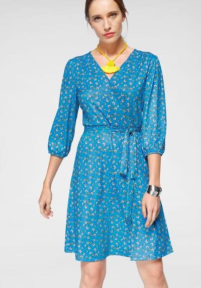 LAURA SCOTT Jerseykleid in hellblau / gelb / rosa / weiß, Modelansicht