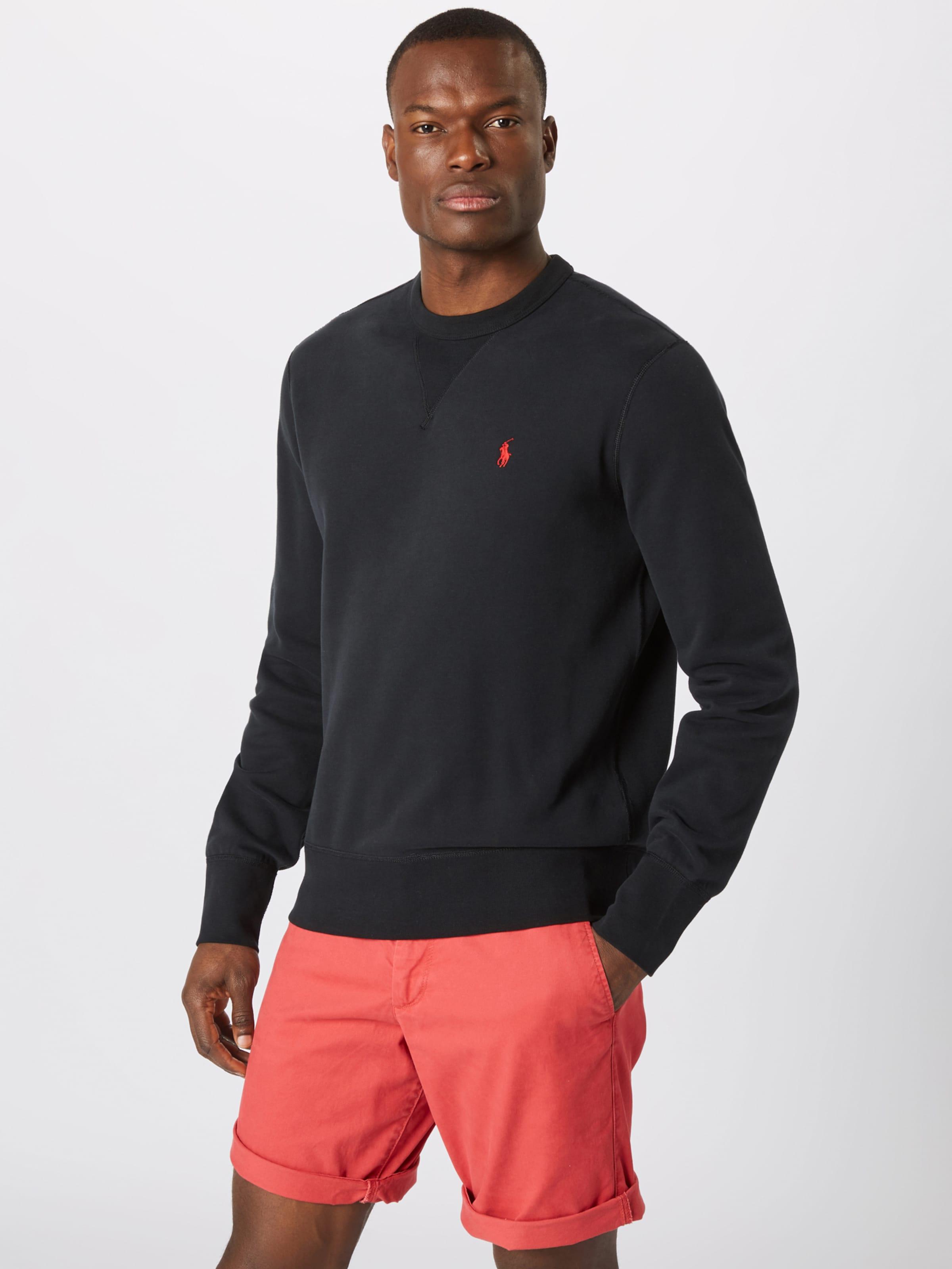 Sweat 'lscn Sleeve Noir Lauren long Ralph knit' En shirt Polo M1 ybYfgv67