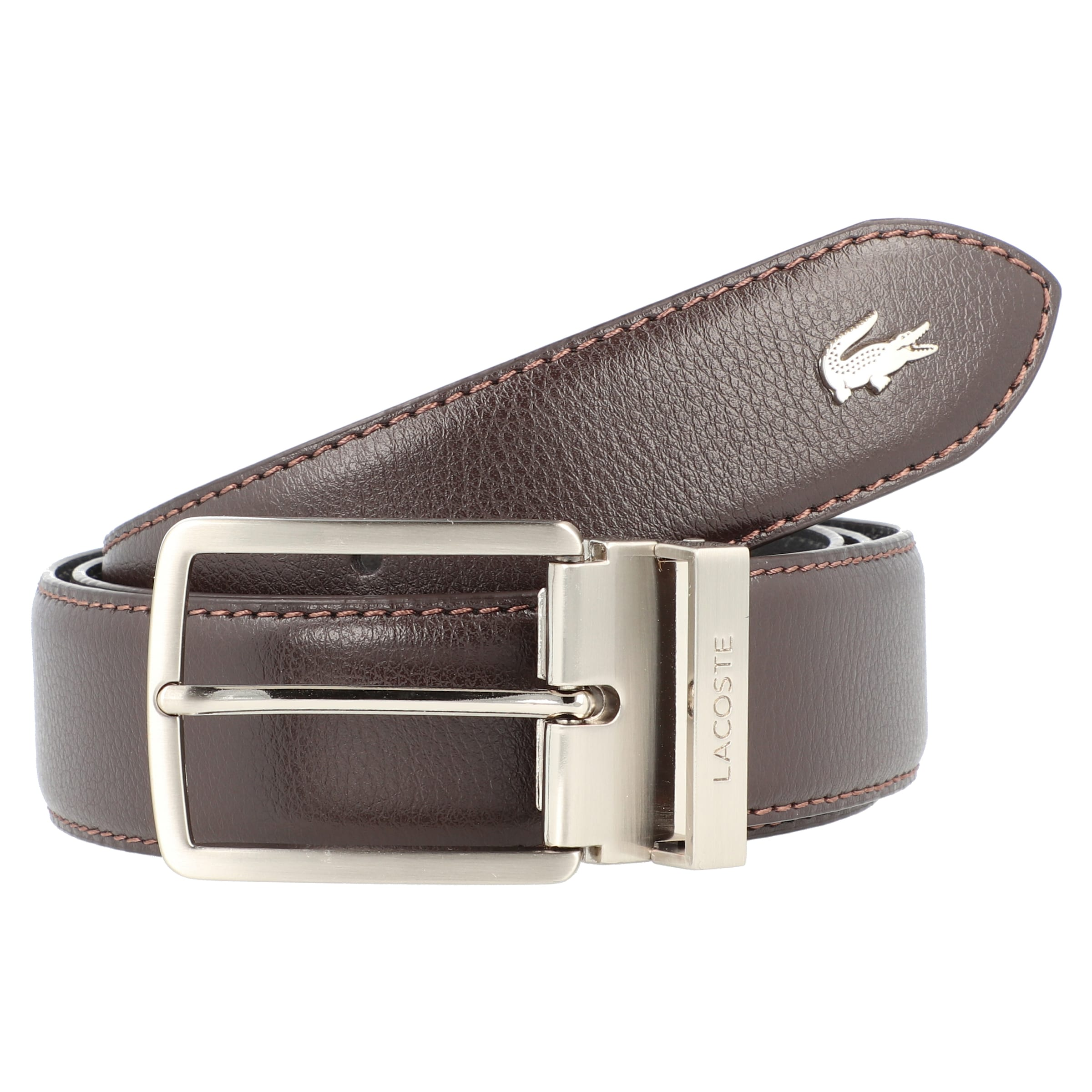 Ledergürtel Elegance' Lacoste Braun In 'men's 3Lq4Rjc5AS