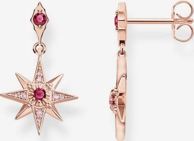 Thomas Sabo Ohrringe 'Stern Rosé' in rosegold / rubinrot, Produktansicht