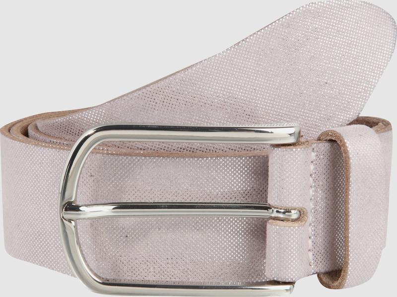 VANZETTI Ledergürtel im Metallic-Look