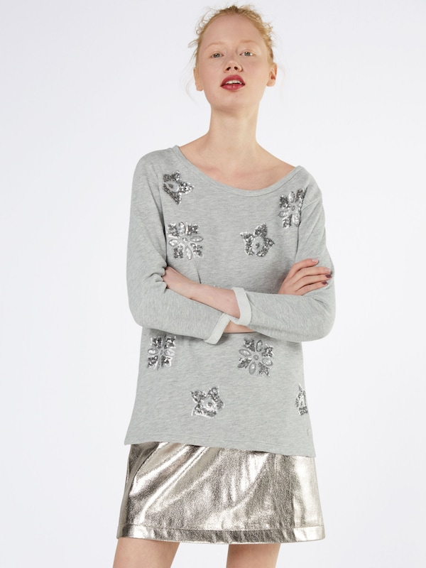 TOM TAILOR Sweatshirt 'embroidered'