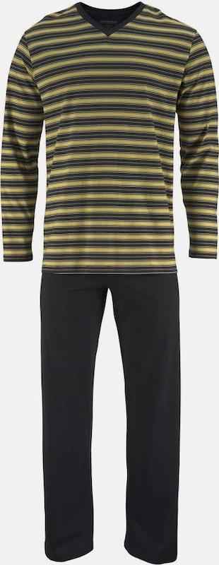 SCHIESSER Geringelter Pyjama lang