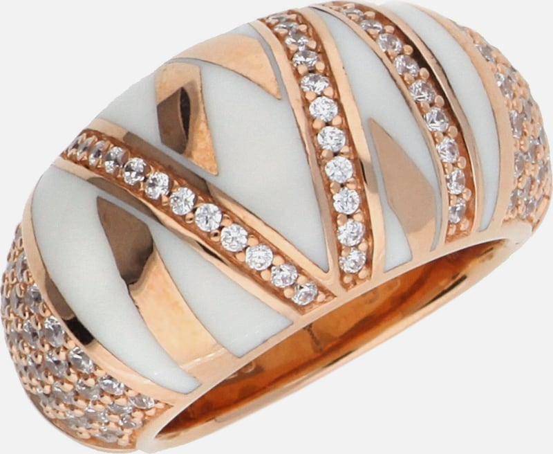 JOOP! Fingerring Silber Rosegold Stripes