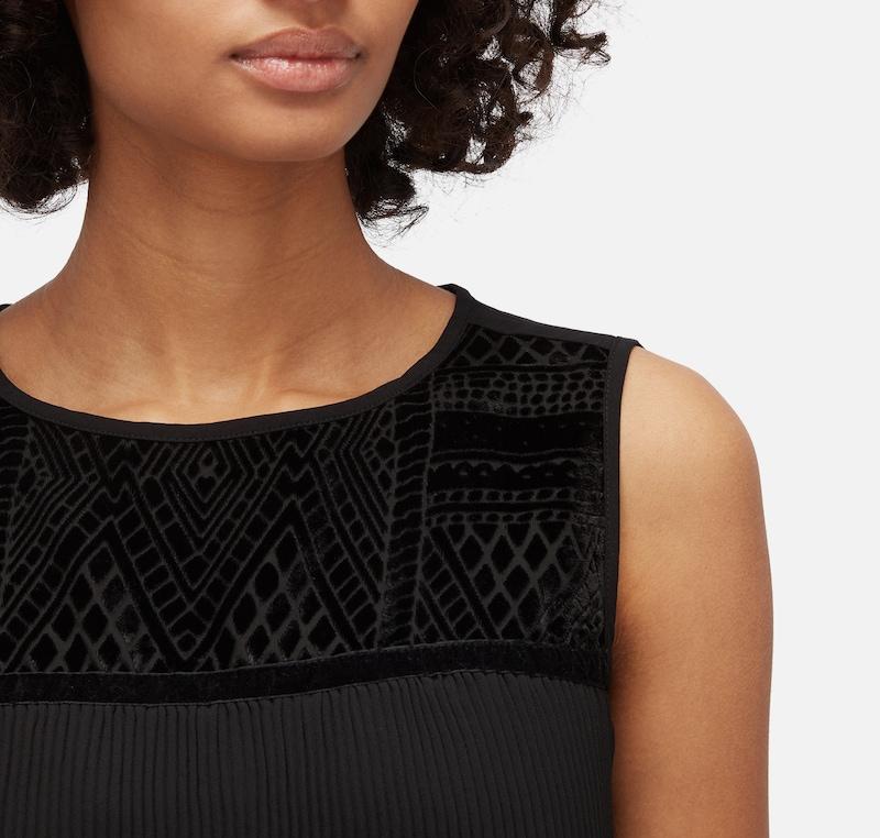 TOM TAILOR Shirt / Blouse plissierte Bluse mit Spitze