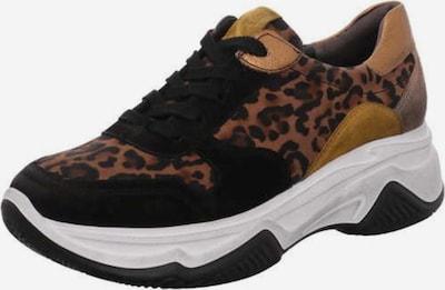 Paul Green Sneaker in braun / schwarz: Frontalansicht