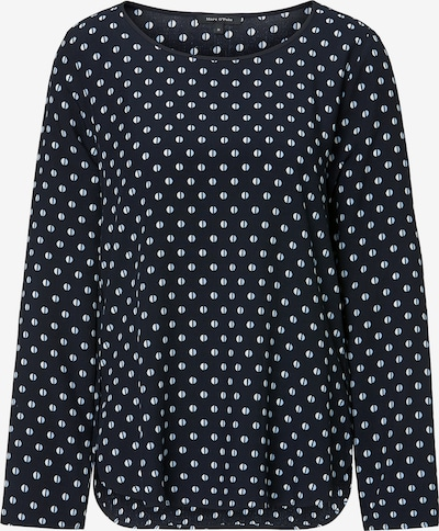 Marc O'Polo Blouse in de kleur Nachtblauw / Wit, Productweergave